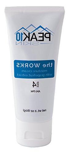 PEAK 10 SKIN - The WORKS moisture cream w/grapefruit extract