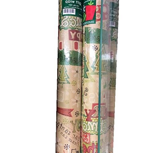 holly jolly kraft paper christmas