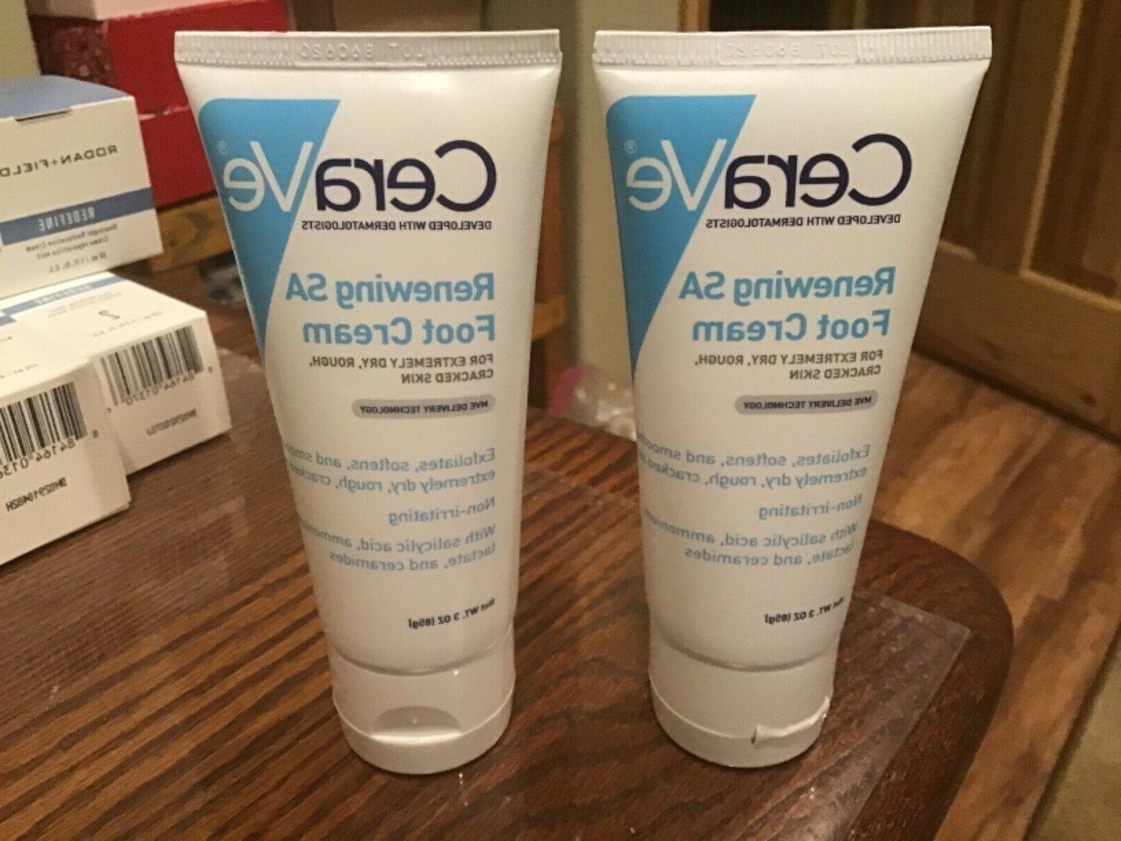 lot of 2 renewing sa foot cream