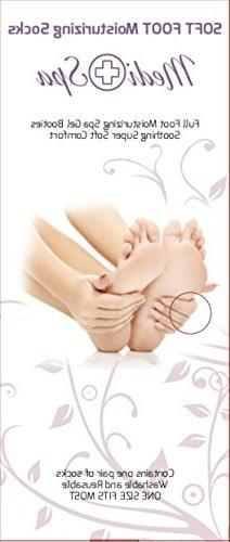 Medi Spa 5  Toe Soft Foot Plush Moisturizing Gel Socks-Soft