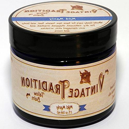 """Vintage Tallow 100% 2 Fl Oz""""The Food of Skin Care"""""""