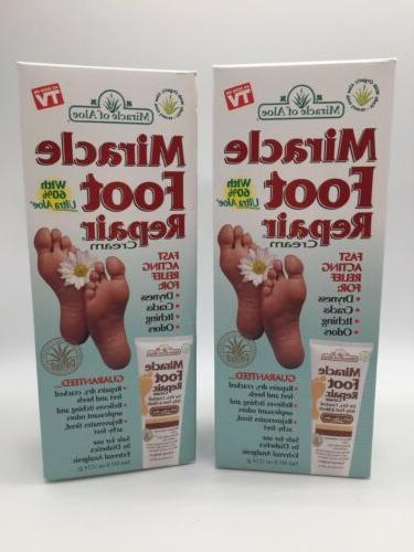 miracle foot repair cream 8 oz set
