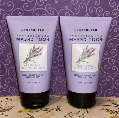 nature love 2x aromatherapy lavender coconut oil