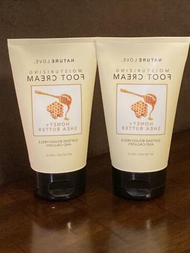 nature love moisturizing foot cream honey