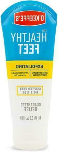 O'Keeffe's Healthy Feet 3 Oz. Tube Exfoliating Foot Cream! C
