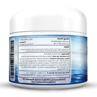 Blue Cream- 3 Oz. Gel- Fast Acting, Cooling,Topical Analgesic Back Arthritis Natural Pain Muscles, FDA in