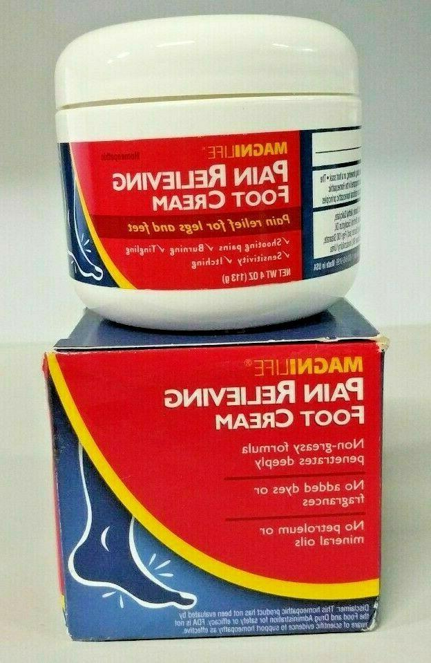 pain relieving foot cream homeopathic