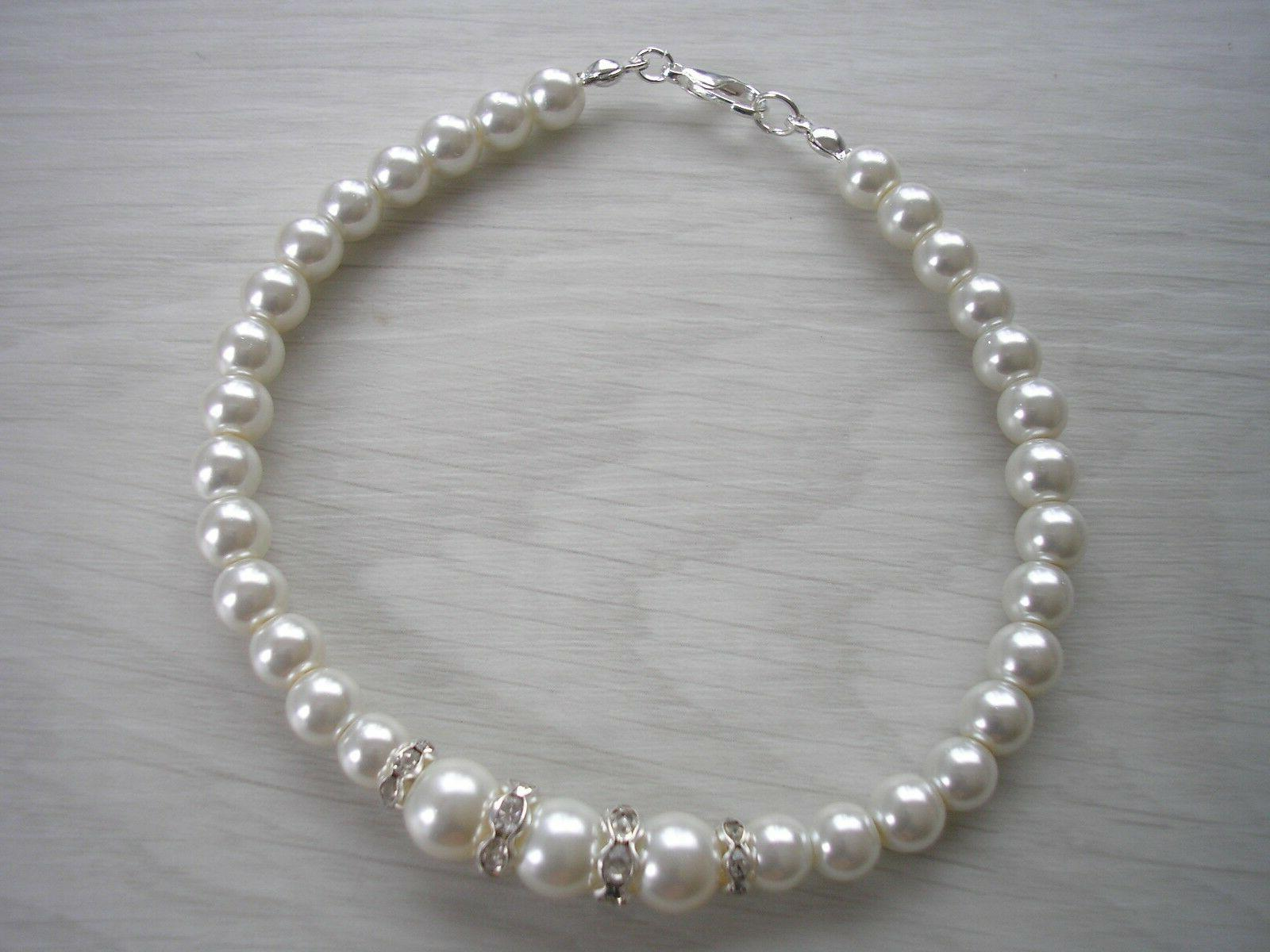 Pearl Anklet Ankle Bracelet for Bridesmaids Foot Jewelry E9AN