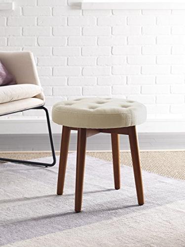 penelope round tufted stool