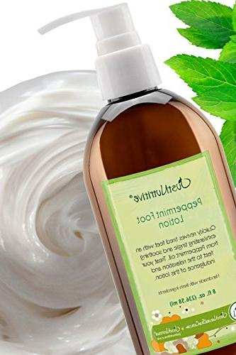 Peppermint Lotion Best Relief Tired Feet Feet Tingle essential oil goes deep to aches and