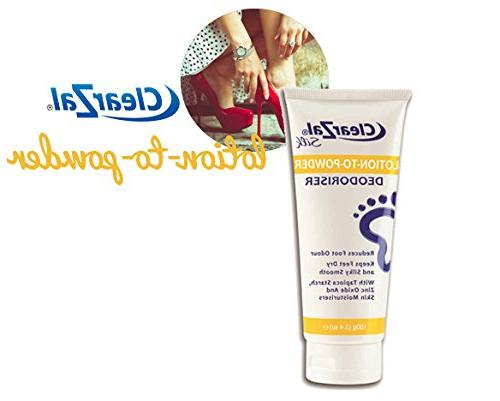 ClearZal Lotion to Deodorizing Eliminating Foot Goes On A And Leaves Silky