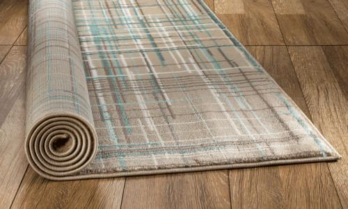 Summit 102 Beige Teal Abstract Rug aprx