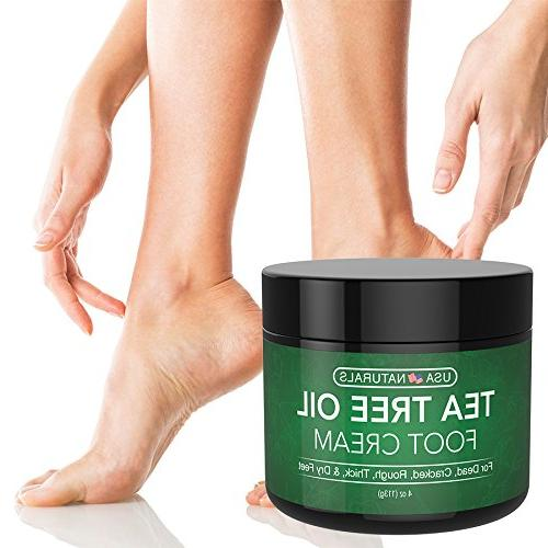 Tea Tree Cream and Moisturizes Callused Relief Antifungal Treatment Helps & Soothes Irritated Skin, Foot,