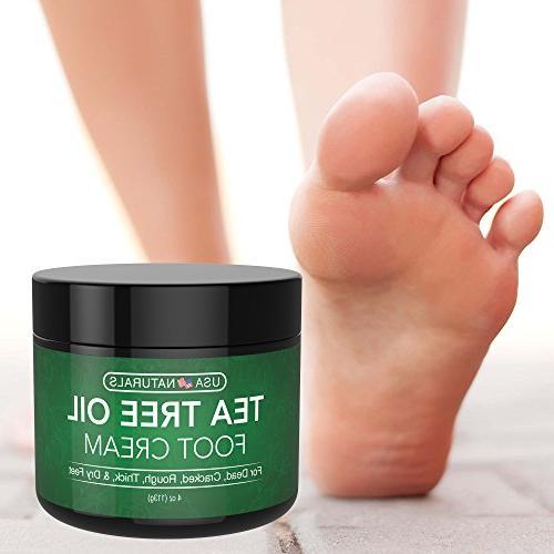 Tea Cream - and Moisturizes Callused Feet Rapid Relief Antifungal & Soothes Irritated Foot, Body
