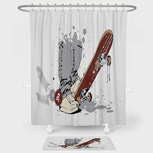 teen room decor shower curtain
