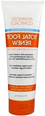 Advanced Clinicals Total Foot Renew Cream for Dry, Itchy Ski