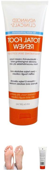 Advanced Clinicals Total Foot Renew Cream- Relief for Dry It
