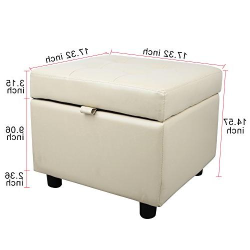 Tufted Square Top Ottoman Foot Rest