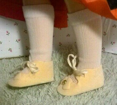 "VINTAGE SHOES-WHITE SOCKS fit P-91 or DOLL w/2""X1"" FOOT"