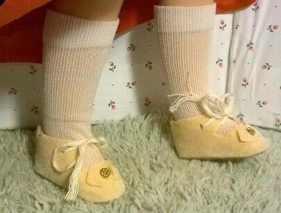 vintage 1960s nos cream shoes white socks