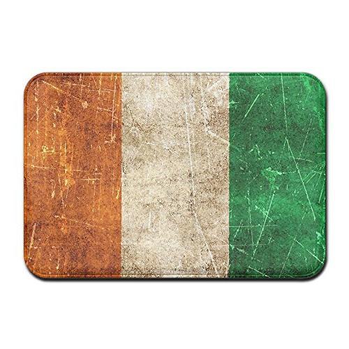 vintage aged scratched irish flag