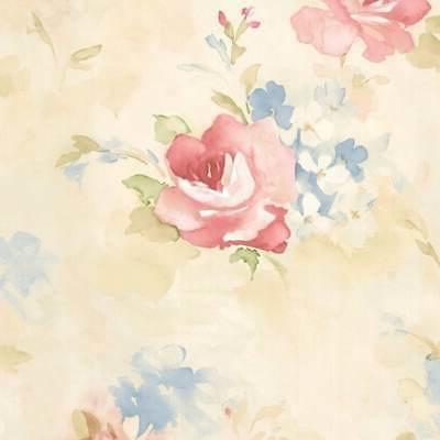 Waterbury Floral x 20.5-inch Wallpaper Pink/Cream 32.7' x