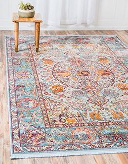 A2Z Rug Light Blue 8' 4 x 10' Feet St. Tropez Collection Tra