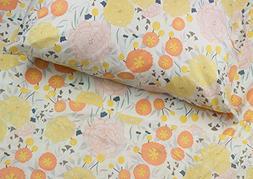 Where The Polka Dots Roam Light Floral Queen Sheet Set, Soft