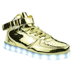 LED Light Up Shoes USB Charging Flashing High-Top Sneakers F