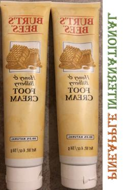 Lot Of 2 Burt's Bees Honey & Bilberry Foot Cream 4 oz