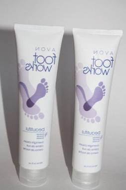 Lot of 2 Avon Foot Works Beautiful Lavender Overnight Cream