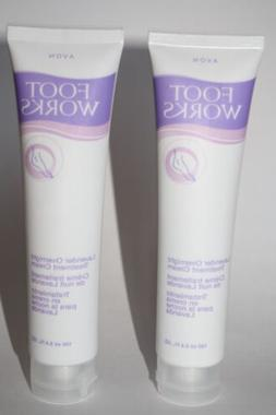 Lot of 2 Avon Foot Works Lavender Overnight Cream 3.4 fl oz