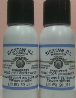Lot Of 2 J. R. Watkins Peppermint Rejuvenating Foot Cream 1