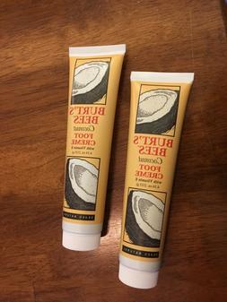 LOT OF 2 NEW Burt's Bees Coconut Foot Cream w/ Vitamin E  4.