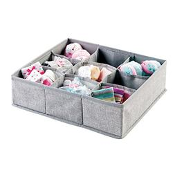 mDesign Soft Fabric 9 Section Dresser Drawer and Closet Stor