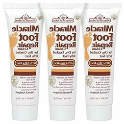Miracle Foot Repair Cream 1 Ounce Tube, 3-Pack with 60% Ultr