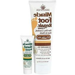 Miracle Foot Repair Cream 8 ounce tube with Miracle Hand Rep