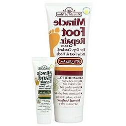 Miracle Foot Repair Cream 8 oz PLUS Miracle Hand Repair 1 oz