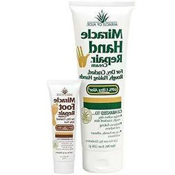 Miracle Hand Repair Cream 8 oz tube with 60% UltraAloe 1 oz