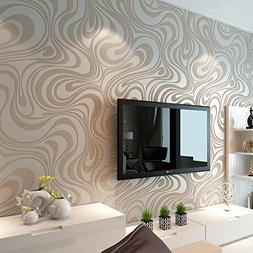 Hanmero Modern Luxury Abstract Curve 3d Wallpaper Roll Mural