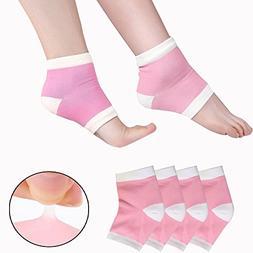 EXPER Moisturizing Gel Heel Socks for Women Men's Dry Crac