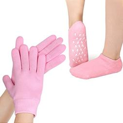 uxcell Moisturizing Gloves and Socks Gift Set for Dry Chappe