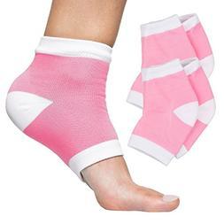 ZenToes Moisturizing Heel Socks 2 Pairs Gel Lined Toeless Sp