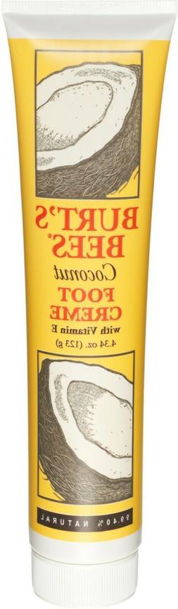 New Burt's Bees Coconut Foot Cream 4.34 Oz. Tube