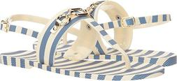 Kate Spade New York Women's Polly Striped Sandals, Blue/Crea