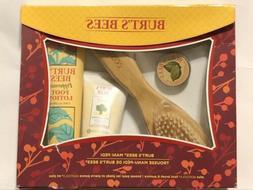 NIB Burt's Bees Mani Pedi Kit Foot Brush Cuticle Cream Foot