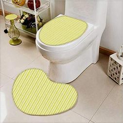 aolankaili Non Slip Bathroom Heart shaped foot pad Retro Str
