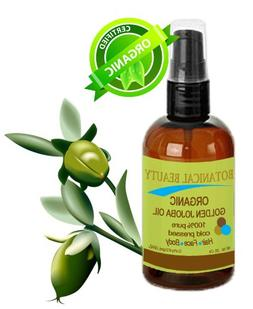Botanical Beauty ORGANIC GOLDEN JOJOBA OIL 100% Pure. For Fa