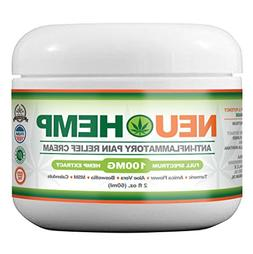Organic Hemp Cream Pain Relief - 100mg Full Spectrum Hemp Ex