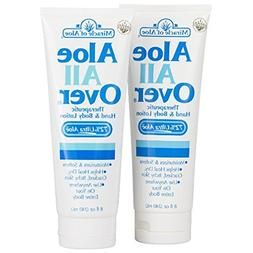 Aloe All Over Therapeutic Dry Skin Lotion 8 ounce tube, 2-Pa